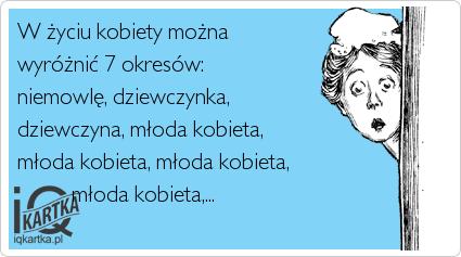 7 okresów z życia kobiety