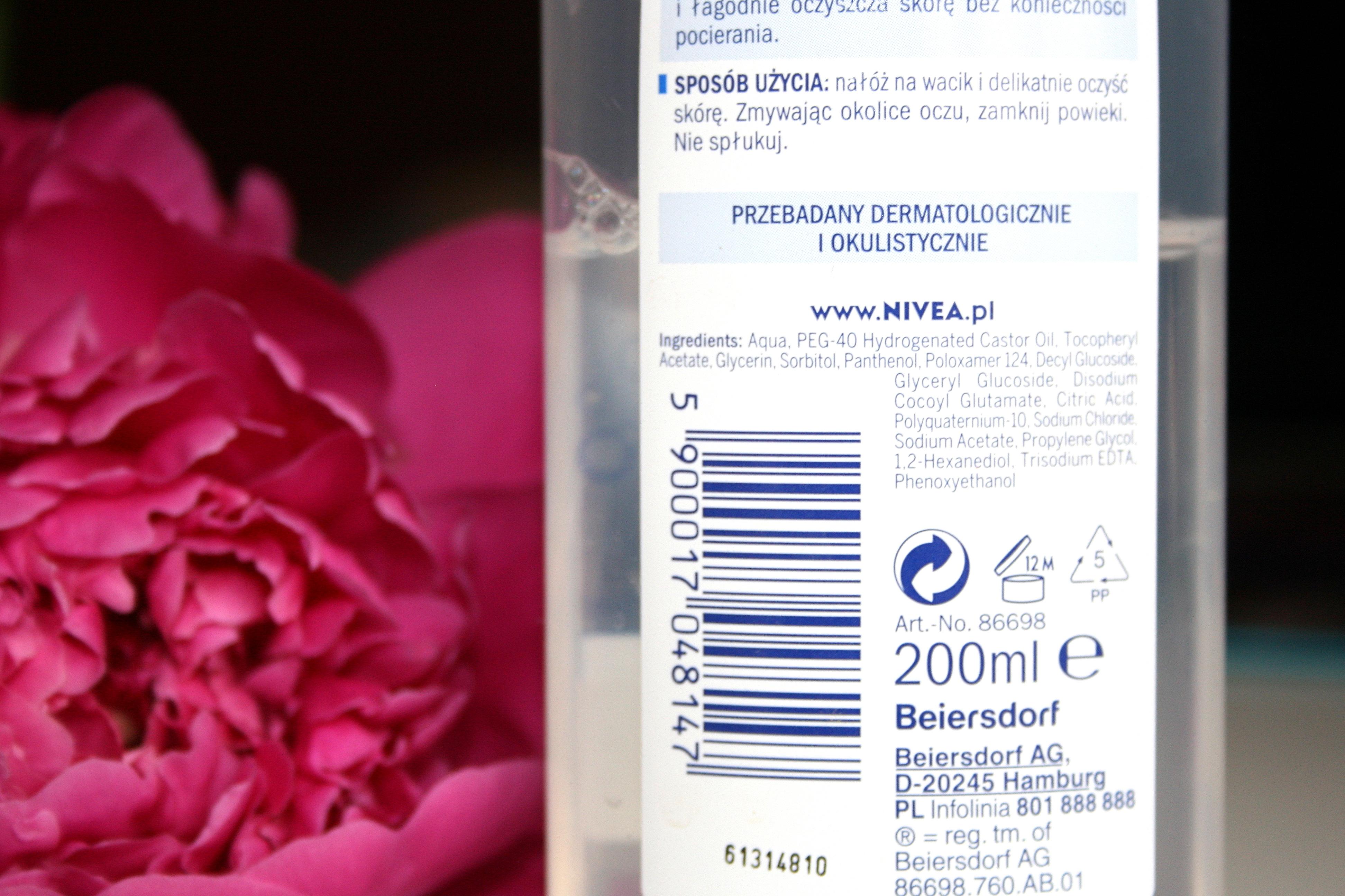 Pielęgnujący płyn micelarny Nivea