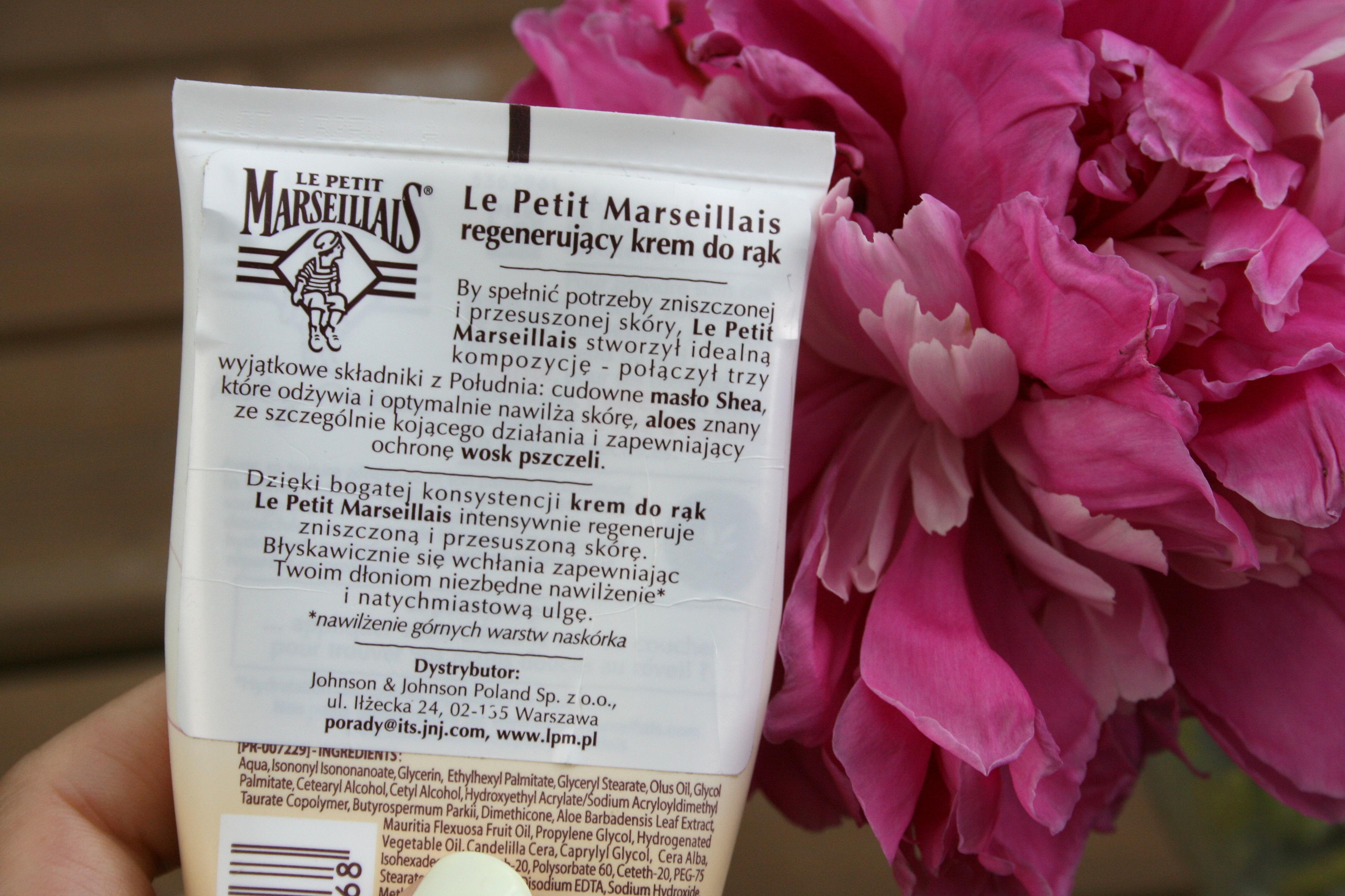 Regenerujący krem do rąk Le Petit Marseillais