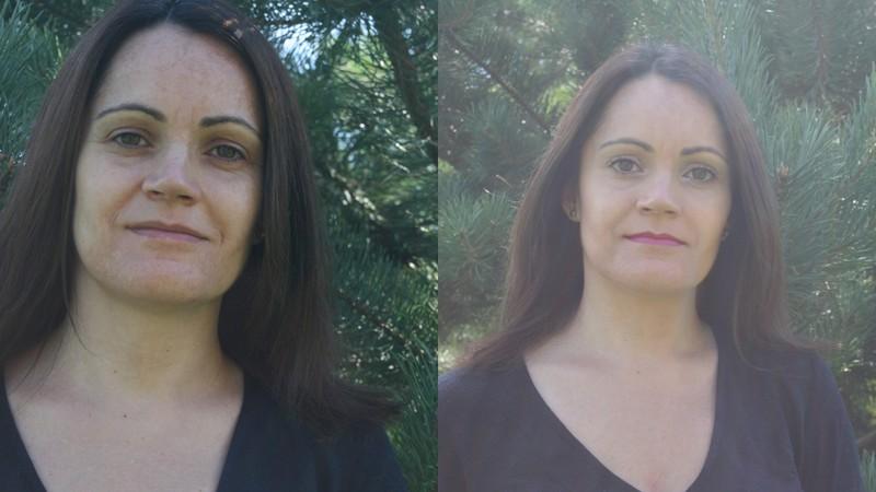 makijaż vs natura