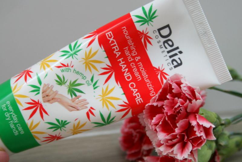 Delia odżywczo nawilżający krem do rąk z olejem konopnym