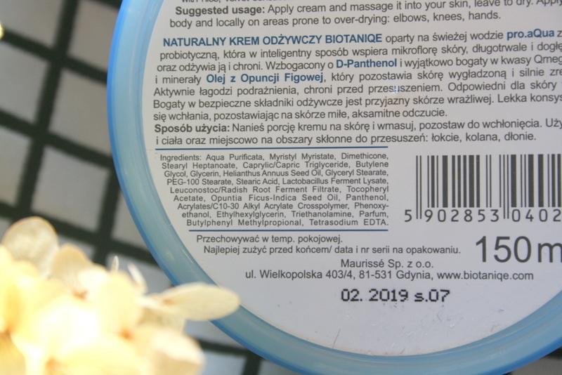 Naturalny Krem Odżywczy Biotaniqe