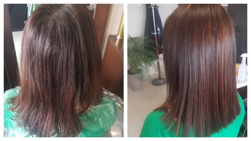 Nowa fryzura, brąz i refleksy